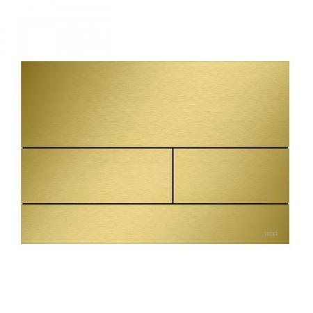 Tece Square II Przycisk spłukujący WC złoty optyczny szczotkowany 9240838