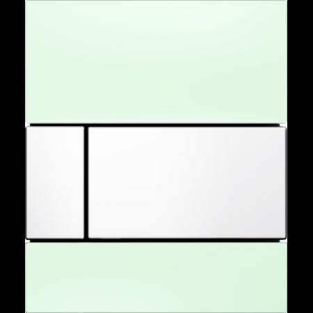 Tece Square Przycisk spłukujący do pisuaru szklany,  zielone, przyciski białe 9242803