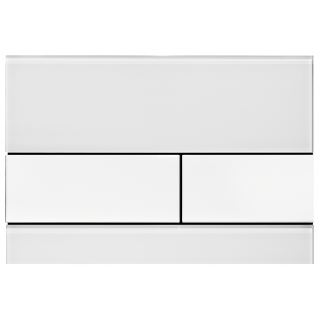 Tece Square Przycisk spłukujący do WC szklany, białe, przyciski białe 9240800