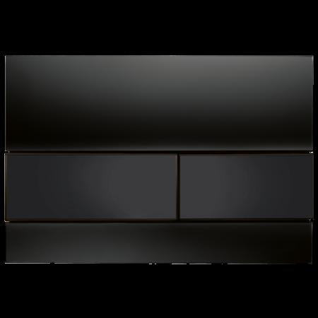 Tece Square Przycisk spłukujący do WC szklany,  czarne, przyciski czarne 9240809