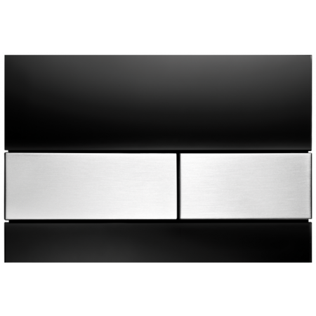 Tece Square Przycisk spłukujący do WC szklany,  czarne, przyciski stal szlachetna 9240806