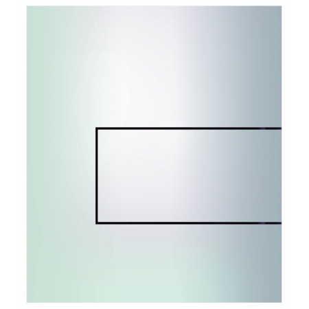 Tece Square Przycisk spłukujący do pisuaru metalowy, biały 9242812