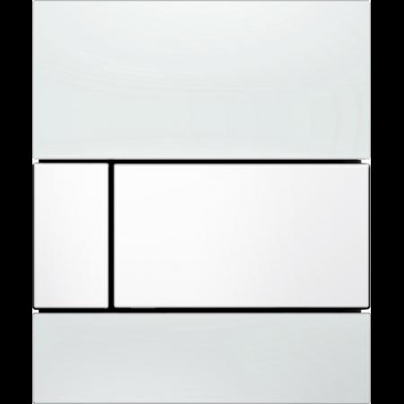 Tece Square Przycisk spłukujący do pisuaru szklany,  białe, przyciski białe 9242800