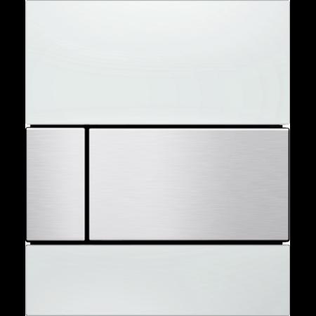 Tece Square Przycisk spłukujący do pisuaru szklany,  białe, przyciski stal szlachetna 9242801