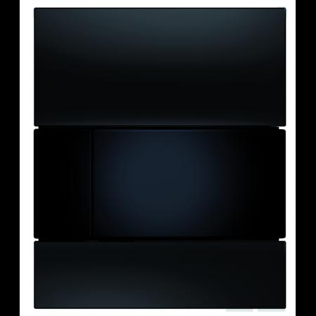 Tece Square Przycisk spłukujący do pisuaru szklany, szkło czarne, przyciski czarne 9242809