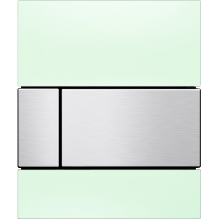 Tece Square Przycisk spłukujący do pisuaru szklany,  zielone, przyciski stal szlachetna 9242804