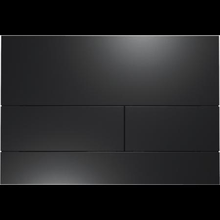 Tece Square II Przycisk spłukujący do WC metalowy, czarny matowy 9240833