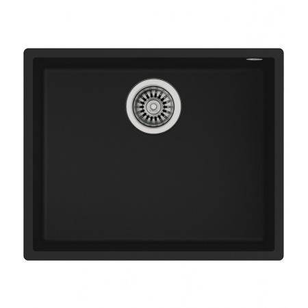 Teka Square Zlewozmywak granitowy jednokomorowy 54x44 cm, czarny 115230020