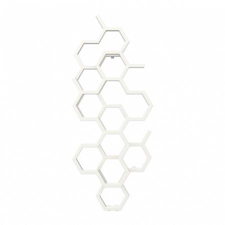 Terma Hex Grzejnik pionowy 122x48,6 cm podłączenie ZX biały RAL 9016 WGH2X122048K916ZX