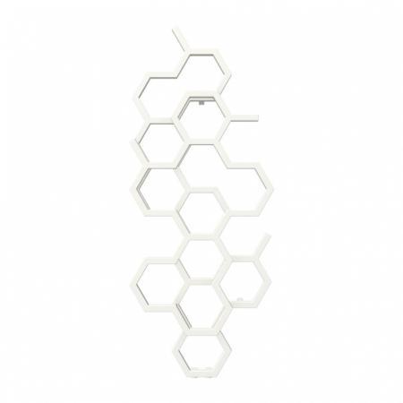 Terma Hex Grzejnik pionowy 122x48,6 cm podłączenie ZX biały Soft 9016 WGH2X122048KS96ZX