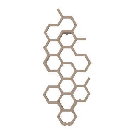 Terma Hex Grzejnik pionowy 122x48,6 cm podłączenie ZX bright copper WGH2X122048KBCOZX