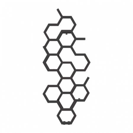 Terma Hex Grzejnik pionowy 122x48,6 cm podłączenie ZX heban WGH2X122048KIHEZX