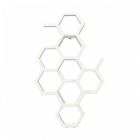 Terma Hex Grzejnik pionowy 82,1x48,6 cm podłączenie ZX biały Soft RAL 9016 WGH2X082048KS96ZX