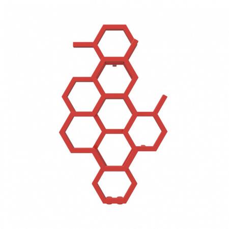 Terma Hex Grzejnik pionowy 82,1x48,6 cm podłączenie ZX czerwony WGH2X082048KS38ZX