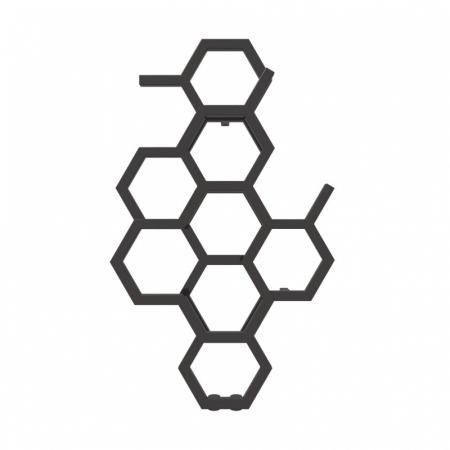 Terma Hex Grzejnik pionowy 82,1x48,6 cm podłączenie ZX heban WGH2X082048KIHEZX