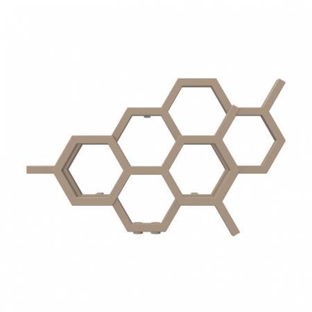 Terma Hex Grzejnik poziomy 42,2x71,1 cm podłączenie YL bright copper WGH2X042071KBCOYL