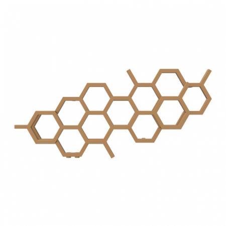 Terma Hex Grzejnik poziomy 50,2x112,6 cm podłączenie YL copper WGH2X050112KCOPYL