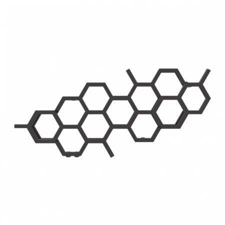 Terma Hex Grzejnik poziomy 50,2x112,6 cm podłączenie YL heban WGH2X050112KIHEYL