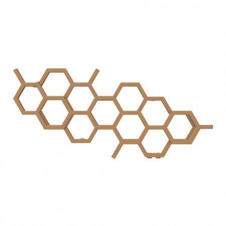 Terma Hex Grzejnik poziomy 50,2x112,6 cm podłączenie YP copper WGH2X050112KCOPYP