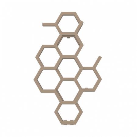Terma Hex Grzejnik pionowy 82,1x48,6 cm podłączenie ZX bright copper WGH2X082048KBCOZX