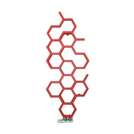 Terma Technologie Hex Pionowy Grzejnik łazienkowy 82,1x48,6 cm podłączenie ZX, biały RAL 9016 WGH2X082048K916ZX