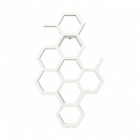 Terma Hex Grzejnik pionowy 82,1x48,6 cm podłączenie ZX biały RAL 9016 WGH2X082048K916ZX