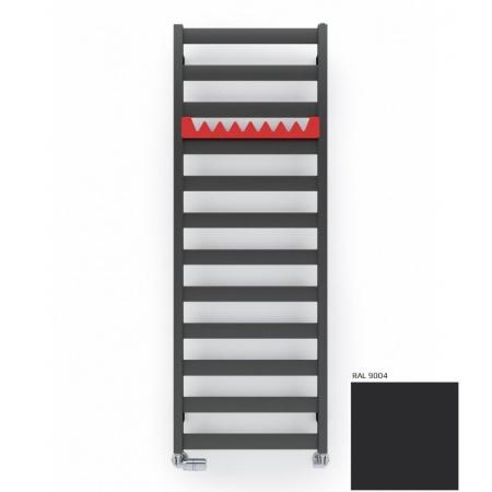 Terma Technologie Vivo Grzejnik 115x40 cm podłączenie dolne środkowe ZX, czarny RAL 9004 WGVOV115040K904ZX