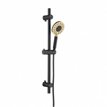 Tiger Splash Akcent Zestaw prysznicowy natynkowy czarny/mosiądz 1714945644