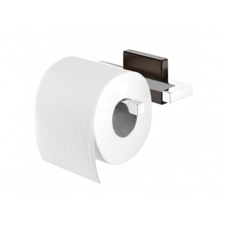 Tiger Zenna Uchwyt na papier toaletowy 15x10,8x5,5 cm, chrom/wenge 3515.83/3515.3.83.46