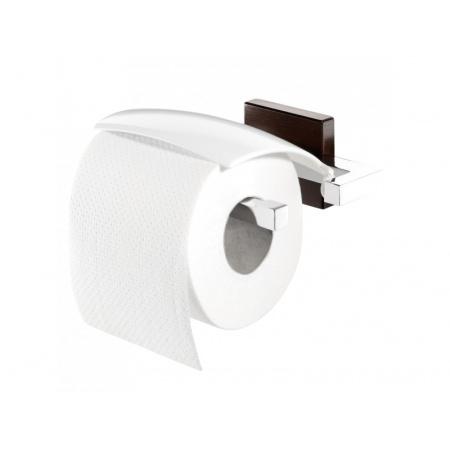 Tiger Zenna Uchwyt na papier toaletowy 15x13,2x5,5 cm, chrom/wenge 3516.83/3516.3.83.46