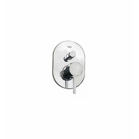Tres Alplus Jednouchwytowa bateria wannowo-prysznicowa podtynkowa 2-drożna z dźwignią, chrom 203.180.01