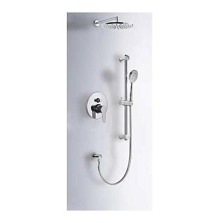 Tres BM-Tres Zestaw prysznicowy podtynkowy z deszczownicą i z dźwignią, chrom 1.17.980