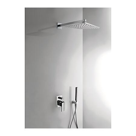 Tres Cuadro Exclusive Zestaw prysznicowy podtynkowy z dźwignią, czarny/chrom 6.06.980