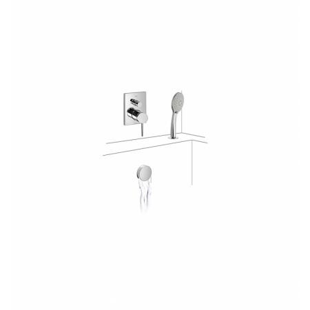 Tres Espacio Jednouchwytowa bateria wannowo-prysznicowa podtynkowa chrom 062.180.12