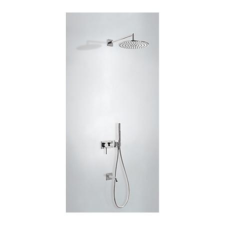 Tres Espacio Zestaw prysznicowy podtynkowy z deszczownicą i z dźwignią, chrom 210.273.13