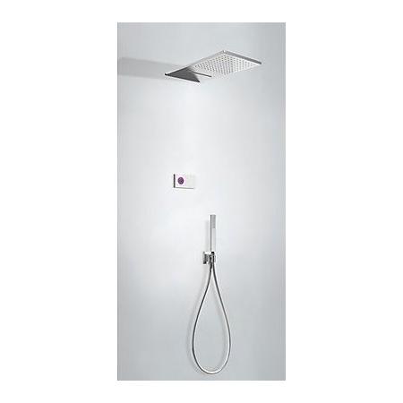 Tres Espacio Zestaw prysznicowy elektroniczny podtynkowy z deszczownicą chrom 092.863.08