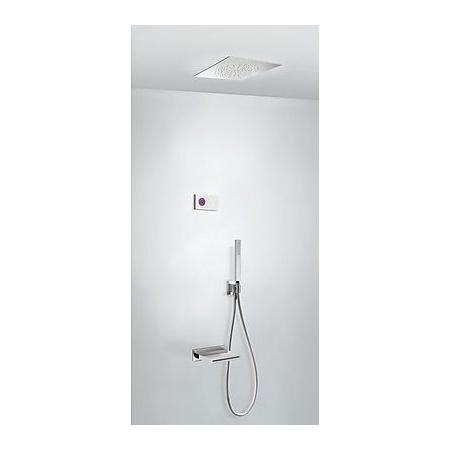 Tres Espacio Zestaw prysznicowy elektroniczny podtynkowy z deszczownicą chrom 092.863.15