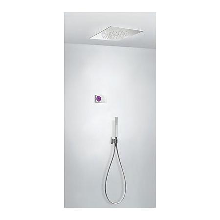 Tres Espacio Zestaw prysznicowy elektroniczny podtynkowy z deszczownicą chrom 092.865.84