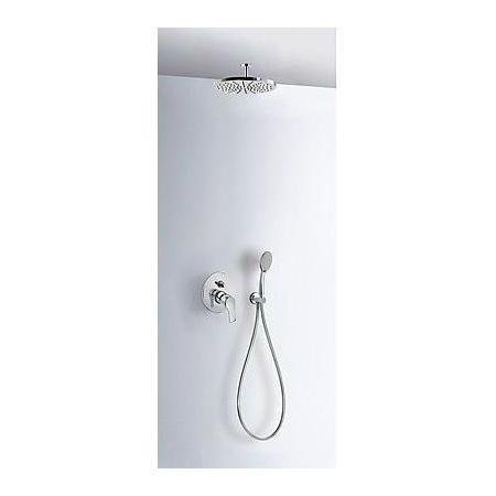 Tres K-Tres Zestaw prysznicowy podtynkowy z deszczownicą i chrom 069.180.80