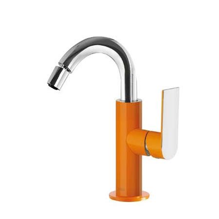 Tres Loft-Colors Jednouchwytowa bateria bidetowa stojąca z dźwignią, pomarańczowa 200.224.01.NA.D