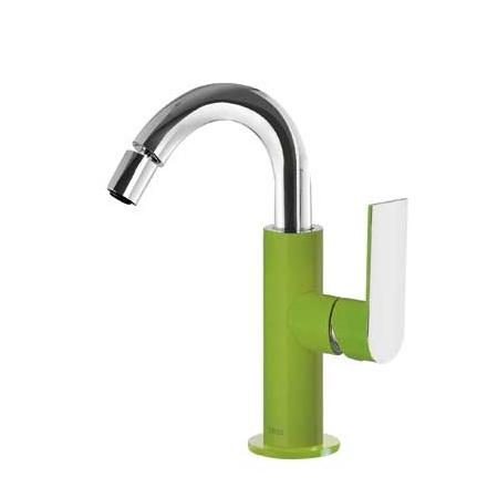 Tres Loft Colors Jednouchwytowa bateria bidetowa stojąca z dźwignią, zielona 200.224.01.VE.D