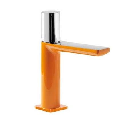Tres Loft-Colors Jednouchwytowa bateria umywalkowa stojąca z pokrętłem, pomarańczowa 200.103.02.NA.D