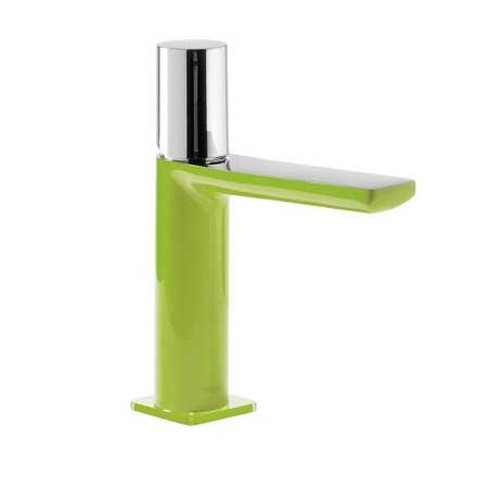 Tres Loft-Colors Jednouchwytowa bateria umywalkowa stojąca z pokrętłem, zielona 200.103.02.VE.D