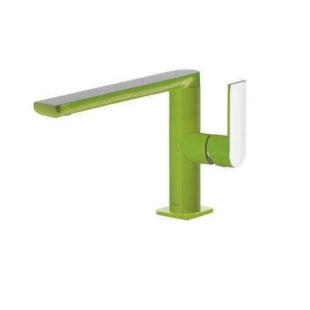 Tres Loft-Colors Jednouchwytowa bateria umywalkowa stojąca z dźwignią, zielona 200.205.01.VE.D