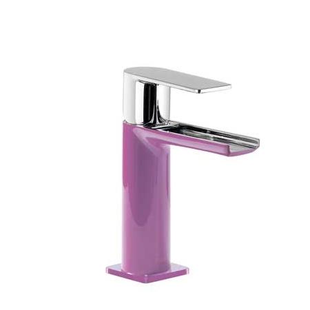 Tres Loft-Colors Jednouchwytowa bateria umywalkowa stojąca z dźwignią i z kaskadową wylewką, fioletowa 200.110.01.VI.D