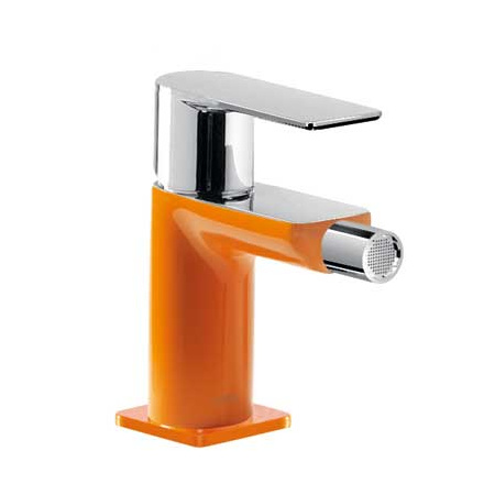 Tres Loft-Colors Jednouchwytowa bateria bidetowa stojąca z dźwignią, pomarańczowa 200.120.01.NA.D