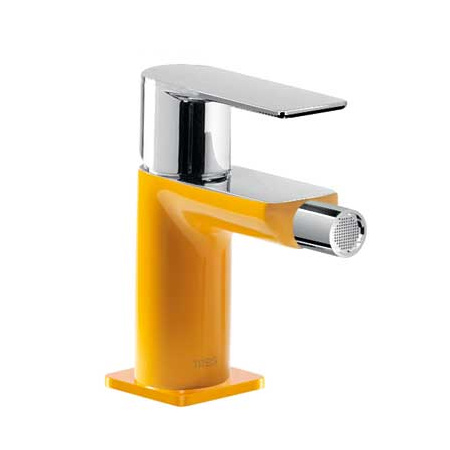 Tres Loft-Colors Jednouchwytowa bateria bidetowa stojąca z dźwignią, żółta bursztynowa 200.120.01.AM.D