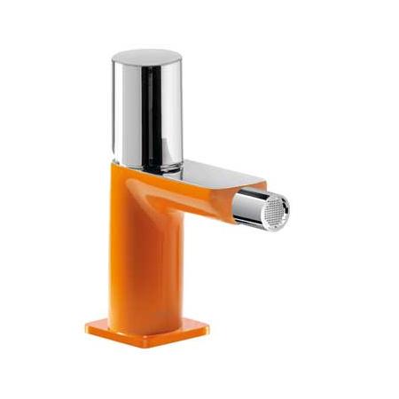 Tres Loft-Colors Jednouchwytowa bateria bidetowa stojąca z pokrętłem, pomarańczowa 200.120.02.NA.D
