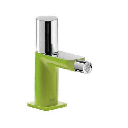 Tres Loft-Colors Jednouchwytowa bateria bidetowa stojąca z pokrętłem, zielona 200.120.02.VE.D