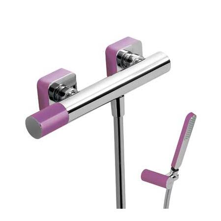 Tres Loft-Colors Jednouchwytowa bateria prysznicowa natynkowa z pokrętłem, fioletowa 200.167.01.VI
